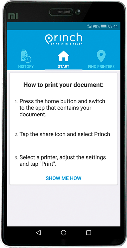 Princh Smartphone example